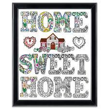 "Stickbild Zenbroidery ""Home Sweet Home"""