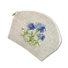 Täschchen - Nature Look Kornblumen Easy Stitching -