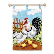 """Kreuzstich-Wandbehang - Hühner Kreuzstich-Wandbehang """"Hühner"""""""