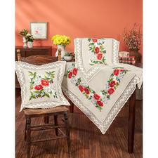 Tischdecken, Tischläufer und Kissen