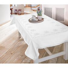 """Feine Kreuzstich-Tischwäsche """"Rosen"""" – damit wird jeder Tisch zur festlichen Tafel."""
