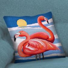 "Longstich-Kissen - Flamingo Longstich-Kissen ""Flamingo"""