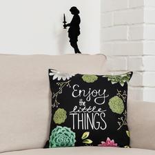 Stick-Druck-Kissen, Enjoy the little things