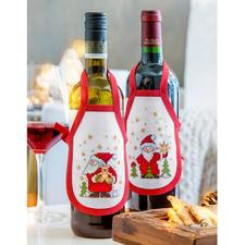 Santa, Creativ-Set Flaschenschürzen