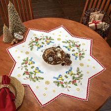 Stern-Tischdecken mit Spitze Zeitlose Weihnachts-Klassiker.