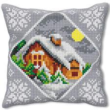 Winter-Idylle, Kreuzstichkissen Kreuzstichkissen – der beliebte Klassiker.