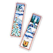 Winterdorf, 2er-Set Lesezeichen Weiße Weihnachten