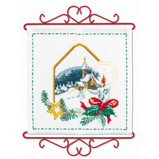 Weihnachts-Idylle, Wandbehang Weiße Weihnacht