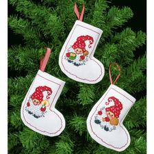 Wichtel, 3 Christbaum-Anhänger im Set Die skandinavische Weihnachtstradition: putzige Wichtel.