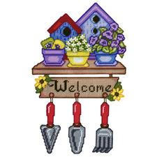 Garden Welcome, Wand- oder Türdeko