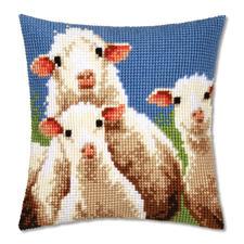 Kreuzstichkissen - Schafe Herrliches Landleben – Stickideen für Natur-Liebhaber