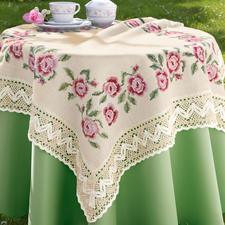 Tischdecke, Rosenblüten