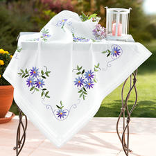 Tischdecke, 80 x 80 cm, Lila Blüten (leider ausverkauft)