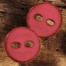 Emailleoptik-Knopf aus Kunststoff, rot, Ø 25 mm, 1 Stück