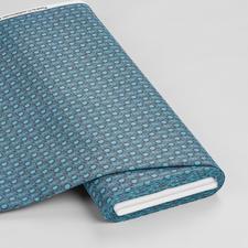 Meterware - Pusteblume, Azurblau Retro-Muster - Mustermix und Farben bringen frischen Look