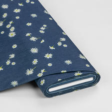 "Meterware Denim Prints ""Ragged Daisies"" Angesagter Denim-Style aus den USA"