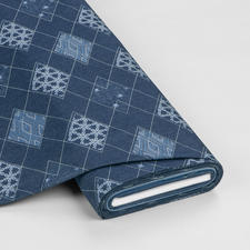Meterware Denim Prints - Diamond Arcuate Angesagter Denim-Style aus den USA
