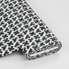 Meterware Baumwoll-Jersey - Kreuze Black & White