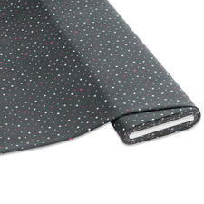 """Meterware Baumwoll-Jersey """"Sterne"""", Grau Stylische Sternendrucke für Ihre individuellen Näh-Ideen"""