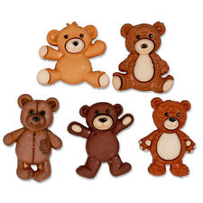 Lustige Motivknöpfe - Teddybären Lustige Motivknöpfe