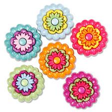 Geprägte Motivknöpfe - Blumen Geprägte Motivknöpfe