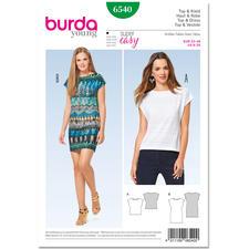 """Burda Schnitt 6540 """"Top & Kleid""""."""