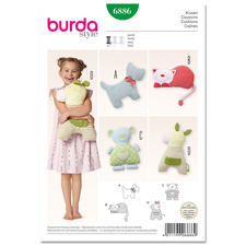 Burda Schnitt 6886 - Tierkissen
