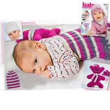 Mütze, Nuckelbär und Pucksack aus Baby BMM 25/16