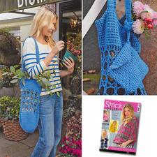 Häkeltasche aus Sabrina Special S 2482 Häkelmaschen zum Einkaufen