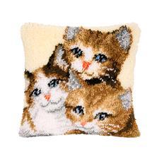 """Knüpfkissen """"Drei Kätzchen"""""""