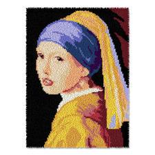 """Wandbehang - Das Mädchen mit dem Perlenohrgehänge Wandbehang """"Das Mädchen mit dem Perlenohrgehänge"""""""