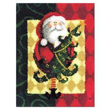 Nikolaus-Teppich Knüpfideen zur Weihnachtszeit.
