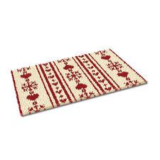 """Fußmatte """"Christkindl, weiß"""" Weihnachtliche Fußmatte."""