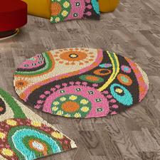 Teppich Boteh, rund