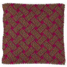 Flechtmuster, Taupe-Burgundy