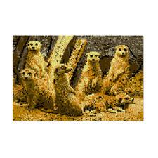 """Wandbehang """"Erdmännchen"""" Naturalistische Tiermotive"""