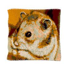 "Knüpfkissen ""Hamster"" Naturalistische Tiermotive"