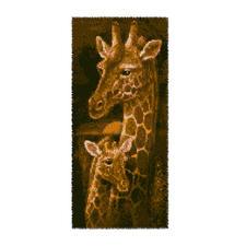 """Wandbehang """"Giraffen"""" Wandbehänge aus Reiner Schurwolle."""