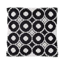 """Knüpfkissen - Black & White No. 7 Knüpfkissen """"Black & White No. 7"""""""