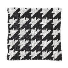 """Knüpfkissen - Black & White No. 4 Knüpfkissen """"Black & White No. 4"""""""