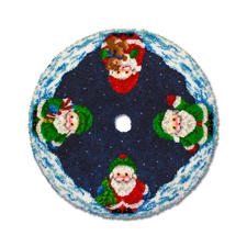 Christbaumteppich Bunte Weihnachten