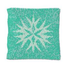 """Knüpfkissen """"Blauer Kristall"""" Der Weihnachts-Trend 2015: Deko-Ideen in zartem Pastell."""