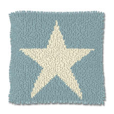 "Knüpfkissen ""White Star"" Stars and Stripes"