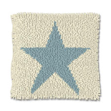 "Knüpfkissen ""Blue Star"" Stars and Stripes"