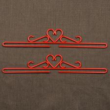 2 Metallbeschläge im Set, Breite 35 cm