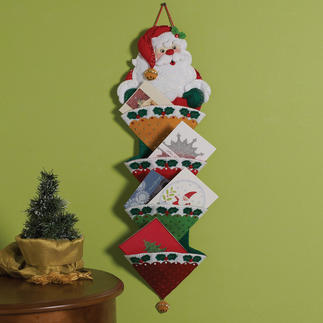 Weihnachtlicher Kartenhalter aus Filz Weihnachtlicher Kartenhalter