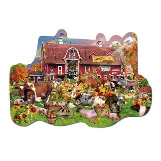 Puzzle - Auf dem Bauernhof Formpuzzles im Set mit Vier-Jahreszeiten-Motiven.