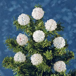 12 Kugeln im Set, Ø 4 cm Glamouröser Perlen-Weihnachtsschmuck – in Komplettpackungen zum kreativen Selbermachen.
