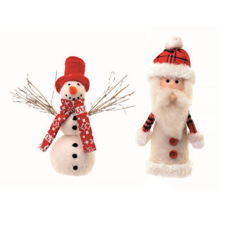 Filz-Set Pinguin und Packesel oder Schneemann und Nikolaus Weihnachtliche Figuren zum Trockenfilzen.