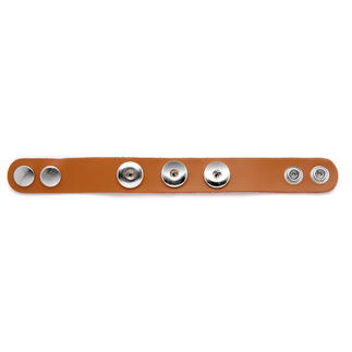Leder-Armbänder mit auswechselbaren Schmucksteinen. Schmuck-Druckknöpfe
